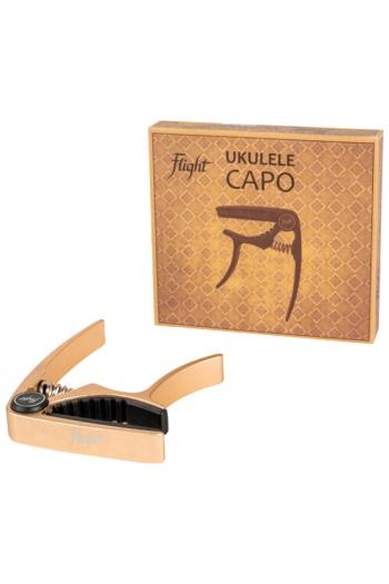 Ukulele: Flight Aluminium Ukulele Capo - Gold