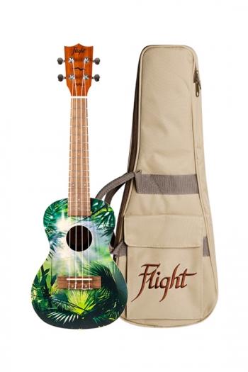 Flight:  AUC33 Art Concert Ukulele - Jungle Ukulele (With Bag)