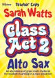 Class Act 2: Tutor: Alto Saxophone : Teachers Copy Piano Accomp